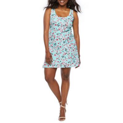 Ronni Nicole Sleeveless Floral Lace Shift Dress-Petite