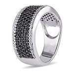 6MM 1 CT. T.W. Genuine Black Diamond Sterling Silver Anniversary Band