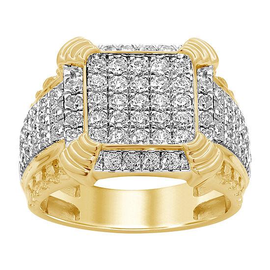 Mens 2 1/4 CT. T.W. Genuine Diamond 10K Gold Fashion Ring