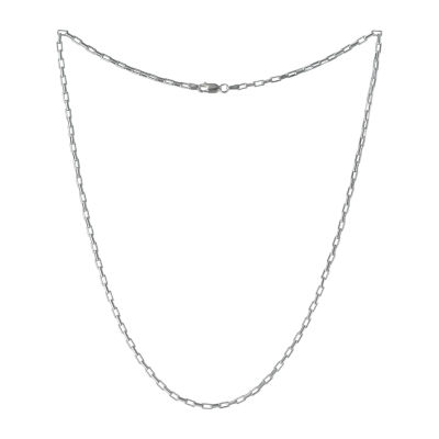 Made in Italy 20 Inch Solid Box Chain Necklace