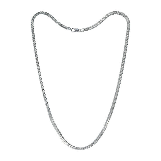 Made in Italy Sterling Silver 24 Inch Solid Link Chain Necklace