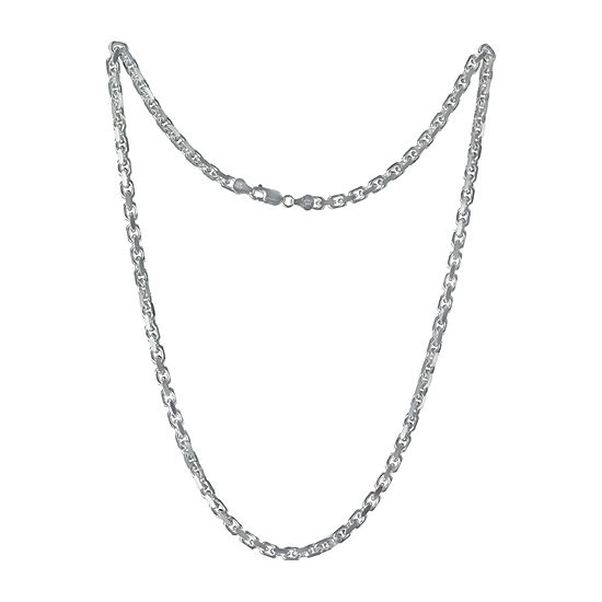Made in Italy Sterling Silver 24 Inch Solid Cable Chain Necklace