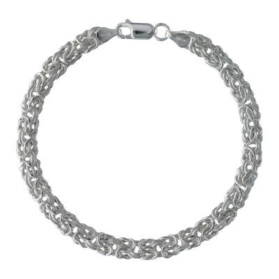 Made in Italy Sterling Silver 7.5 Inch Hollow Link Chain Bracelet