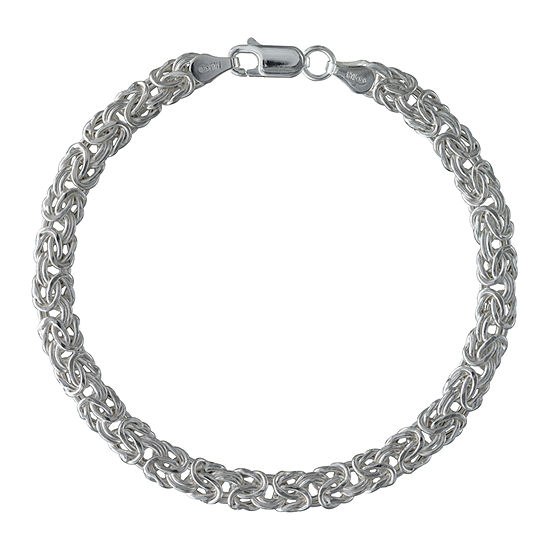 Made in Italy Sterling Silver 8 Inch Hollow Link Chain Bracelet