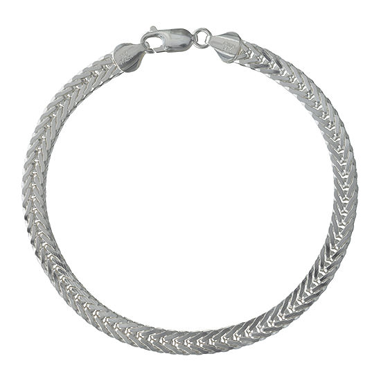 Made in Italy Sterling Silver 9 Inch Solid Link Chain Bracelet