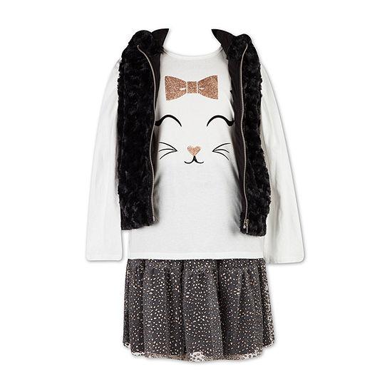Speechless Girls 3-pc. Skirt Set Preschool / Big Kid