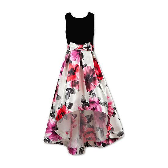 Speechless Girls Sleeveless Floral Maxi Dress - Little Kid / Big Kid