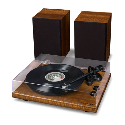 Crosley C62 Belt-Drive Bluetooth Turntable Shelf System