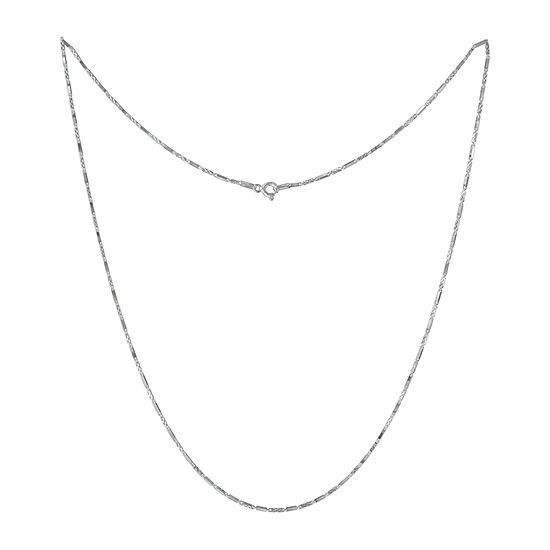 Made in Italy Sterling Silver 20 Inch Solid Link Chain Necklace