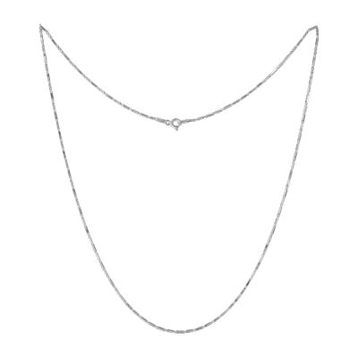 Made in Italy Sterling Silver 16 Inch Solid Link Chain Necklace