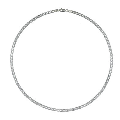 Made in Italy Sterling Silver 18 Inch Solid Link Chain Necklace