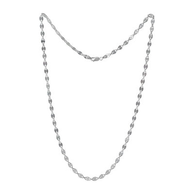 Made in Italy 18 Inch Solid Link Chain Necklace