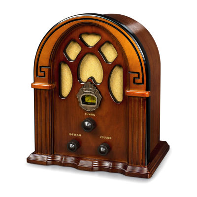 Crosley Companion Cathedral AM/FM Radio with Built-in Bluetooth