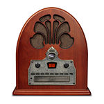Crosley Cathedral AM/FM Radio with Built-in Bluetooth and CD Player