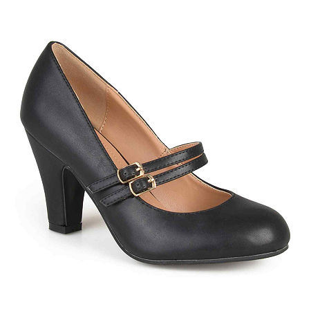 1960s Style Clothing & 60s Fashion Journee Collection Womens Windy Pumps 7 12 Medium Black $52.49 AT vintagedancer.com