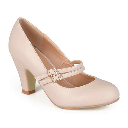1950s Style Shoes | Heels, Flats, Boots Journee Collection Womens Windy Pumps 9 Medium Beige $39.74 AT vintagedancer.com