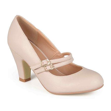 1950s Shoe Styles: Heels, Flats, Sandals, Saddle Shoes Journee Collection Womens Windy Pumps 9 Medium Beige $39.74 AT vintagedancer.com