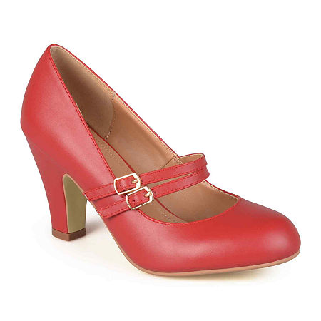 1950s Style Shoes | Heels, Flats, Boots Journee Collection Womens Windy Pumps 7 12 Medium Red $39.74 AT vintagedancer.com