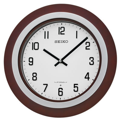 Seiko® Brown Wall Clock With 18 Hi-Fi Melodies Qxm547blh