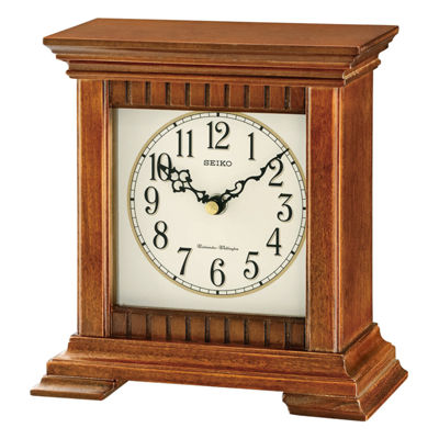 Seiko® Traditional Classics Desk Clock With ChimeBrown Qxj028blh