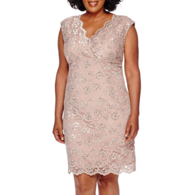 Blu Sage Sleeveless Lace Dress - Plus