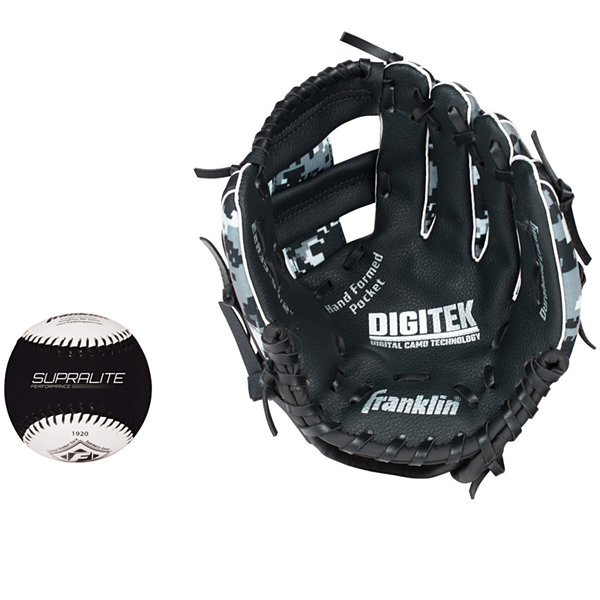 "Franklin Sports 9.5"" RTP Teeball Performance Glove and Ball Combo"