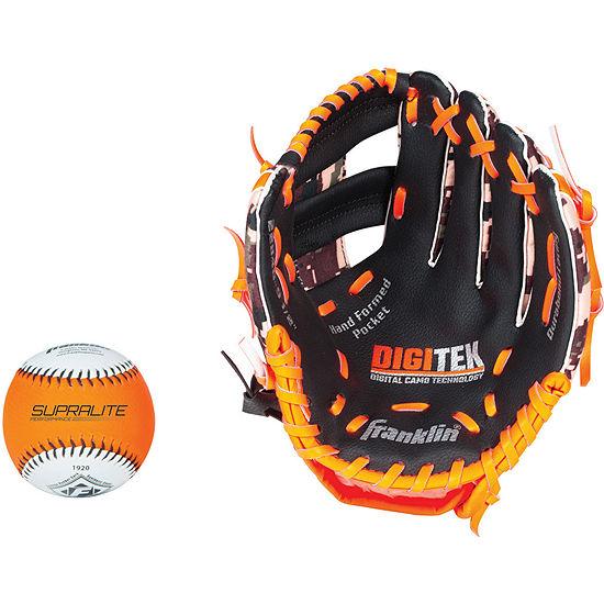 "Franklin Sports 9.5"" RTP Teeball Performance Glove and Ball Combo"