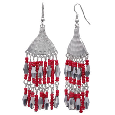 Mixit Clr 0717 Red Drop Earrings