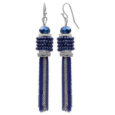 Mixit Clr 0717 Dk Blue Drop Earrings