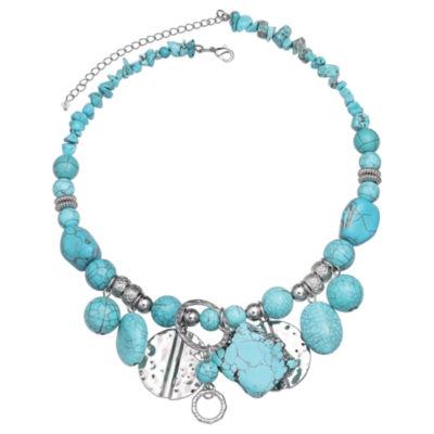 Mixit Clr 0717 Lt Blue Womens Collar Necklace
