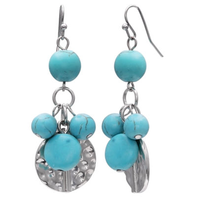 Mixit Clr 0717 Lt Blue Drop Earrings