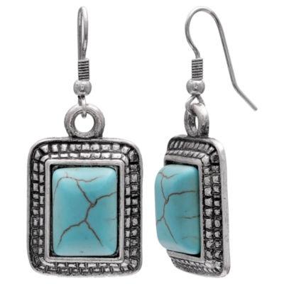 Mixit Clr 0717 Lt Blue Drop Earrings