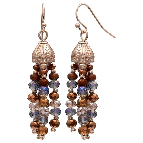 Mixit Clr 0717 Brown Drop Earrings