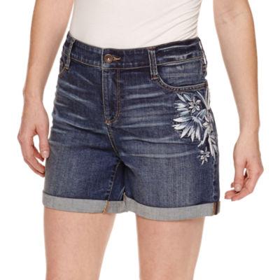 """St. John's Bay 9"""" Denim Shorts"""
