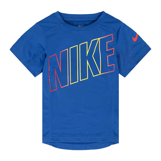 935519acc Nike Boys Crew Neck Short Sleeve Dri-Fit Graphic T-Shirt-Preschool -  JCPenney