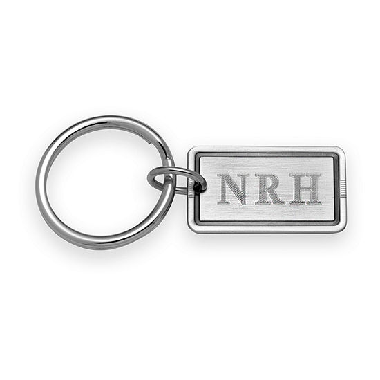 Antique Silver Personalized Key Ring