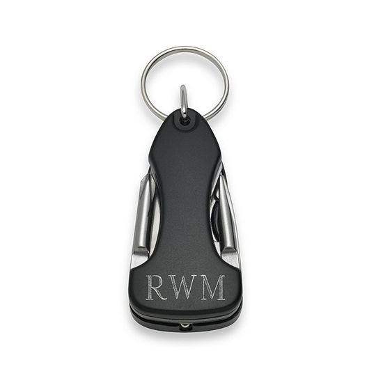 Personalized Mulitool Key Ring with LED Light