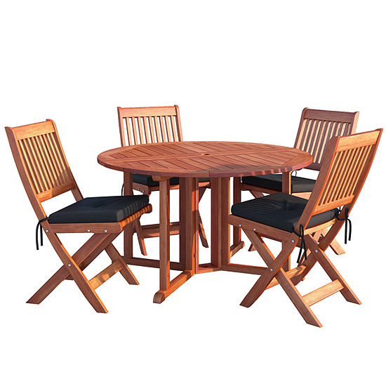 Miramar 5 Pc Folding Patio Dining Set JCPenney