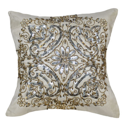 Silvermist Taffeta Square Throw Pillow