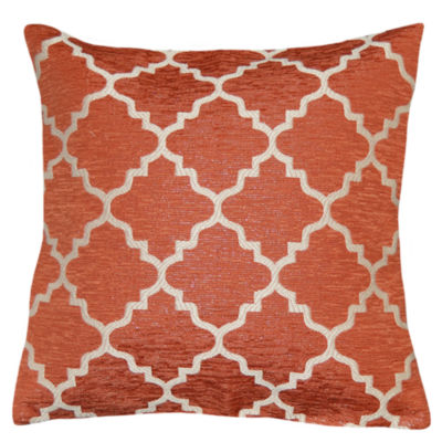 Evelyn Lattice Square Throw Pillow