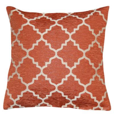 Evelyn Lattice Square Throw Pillow
