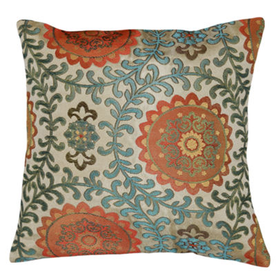 Circular Deco Square Throw Pillow