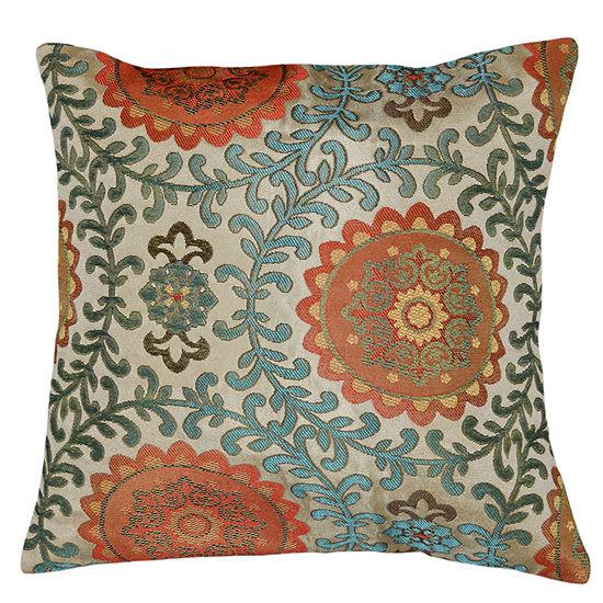 Circular Deco Square Throw Pillow