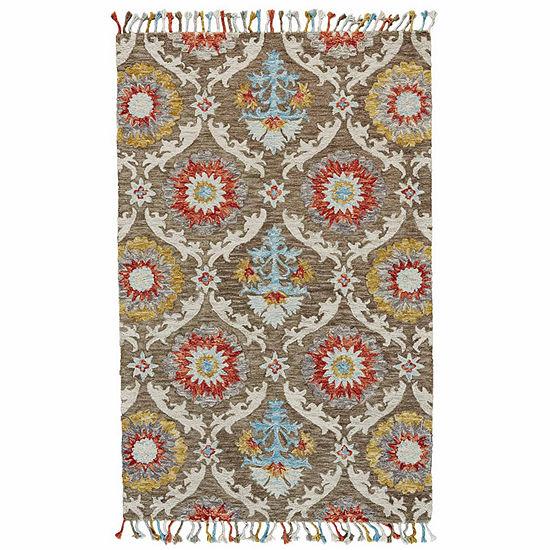 Weave And Wander Calendra Incas Hand Tufted Rectangular Indoor Rugs