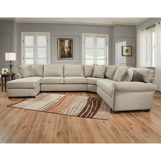 Sectional Sofas At Jcpenney: Fabric Possibilities Roll Arm 4pc Right Arm Facing Chaise