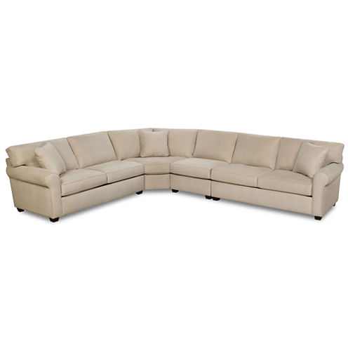 Fabric Possibilities Roll Arm 4-Pc Sectional