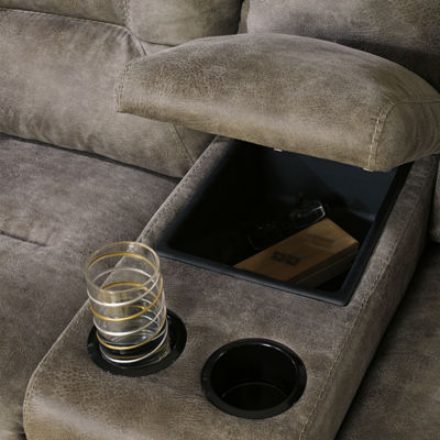 Signature Design by Ashley® Rotation Double Reclining Loveseat with Console