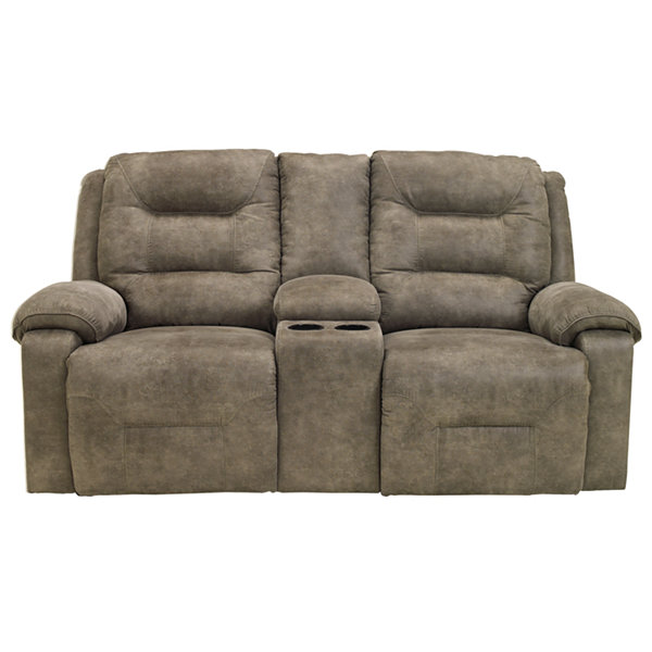 Signature Design by Ashley® Rotation Double Reclining Power Loveseat with Console