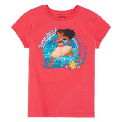 Disney Short Sleeve Moana T-Shirt-Big Kid