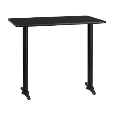 30'' x 48'' Rectangular Laminate Table Top with 5'' x 22'' Bar Height Table Bases